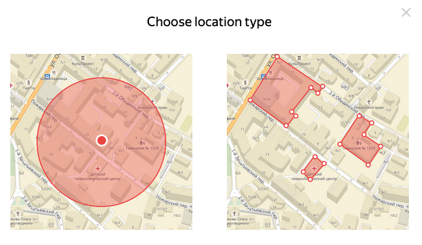 Yandex Direct Location Targeting